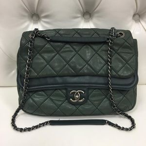 CHANEL Crossbody Bag beautiful pearl green color